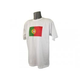 Tee shirt blanc drapeau du Portugal