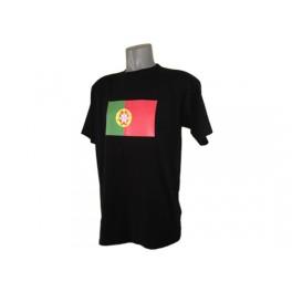 Tee shirt noir drapeau du Portugal