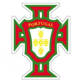 Stickers FPF ( croix du portugal ) aux couleurs portugaise