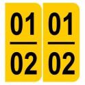 Stickers jaunes pour plaques portugaise