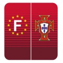 Stickers maillot Portugal pour plaque f