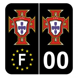 Stickers fpf noir pour plaques française avec votre département