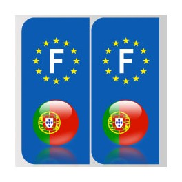 Stickers Portugal pour plaque