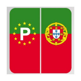 stickers portugal pour plaque d 39 immatriculation. Black Bedroom Furniture Sets. Home Design Ideas